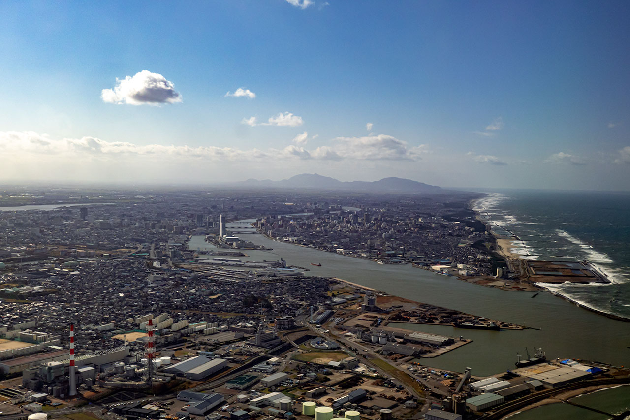 空撮 新潟市街
