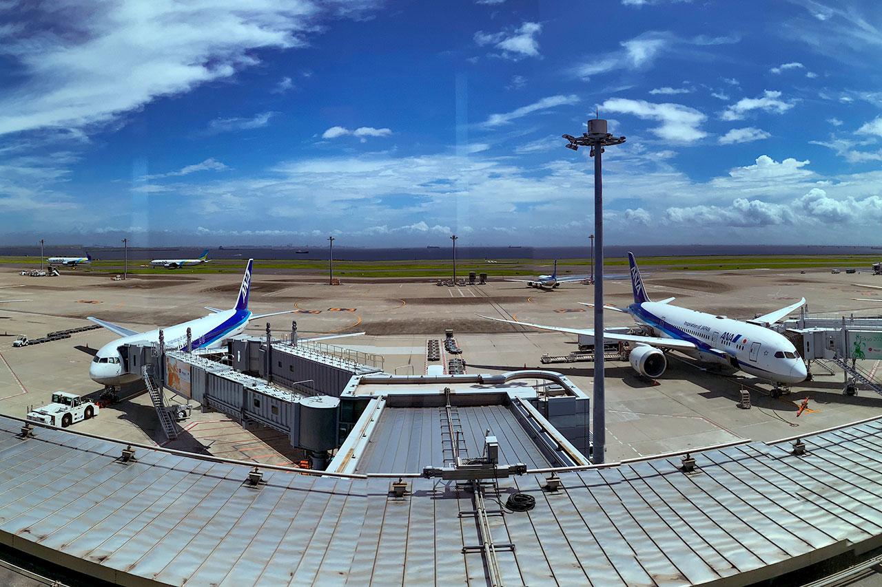 羽田空港 ANA SUIT LOUNGEからの眺望