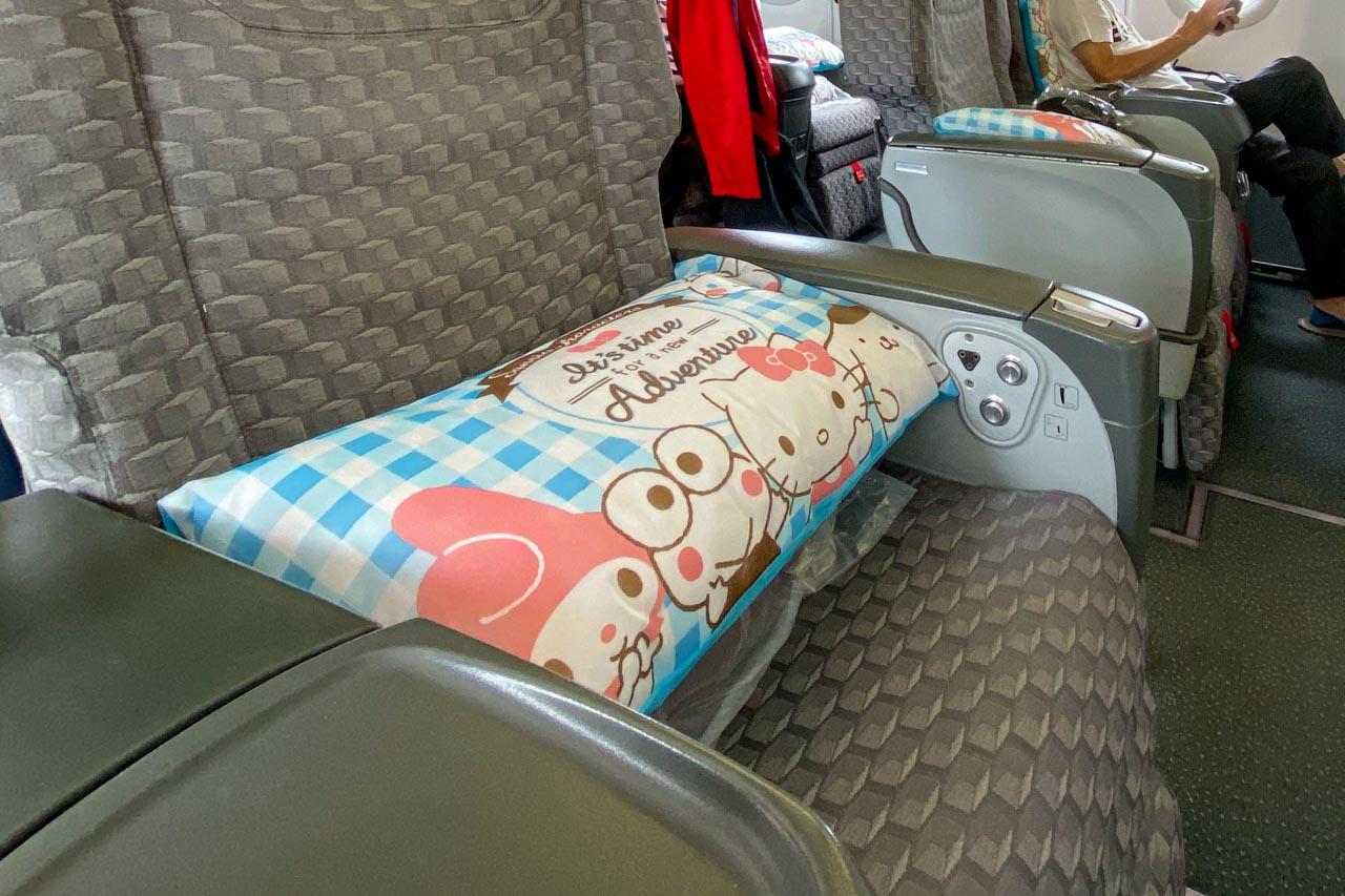 エバー航空 ビジネスクラス 枕
