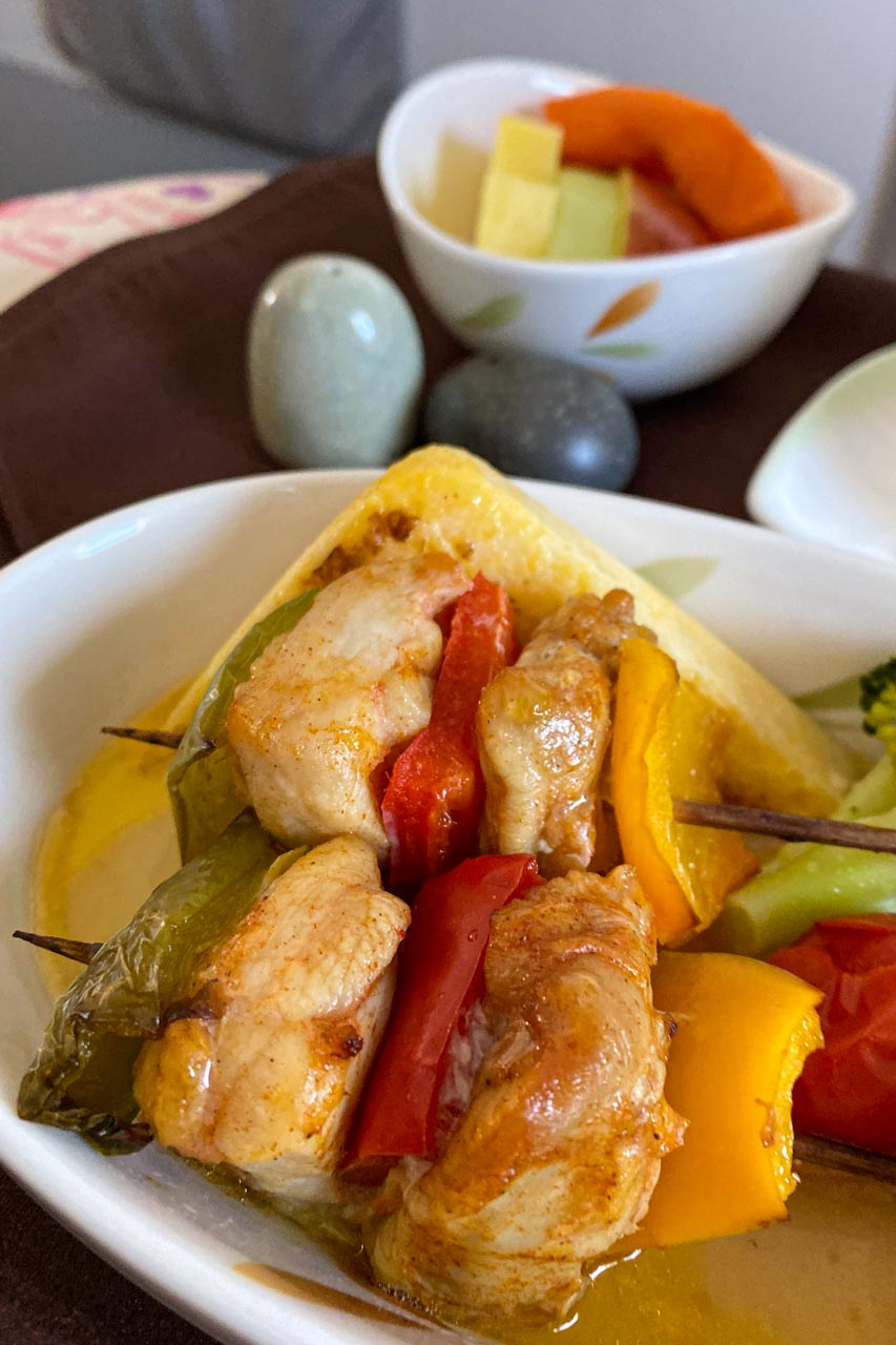 エバー航空 BR113 那覇~台湾 ビジネスクラスと機内食