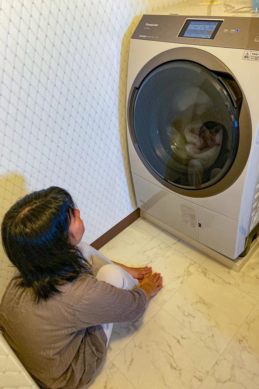 洗濯機と妻
