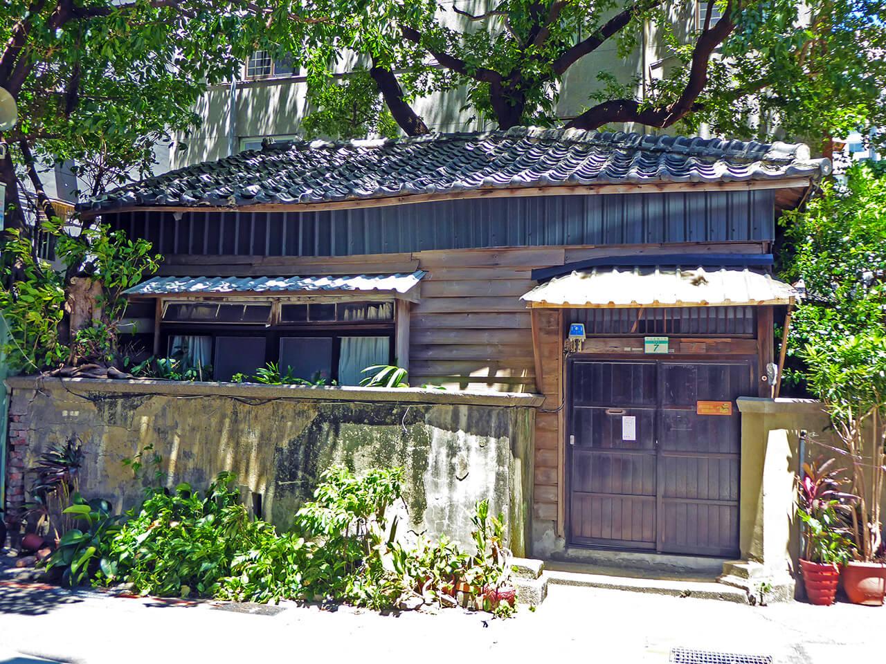 台北市中心部に現存する日本家屋