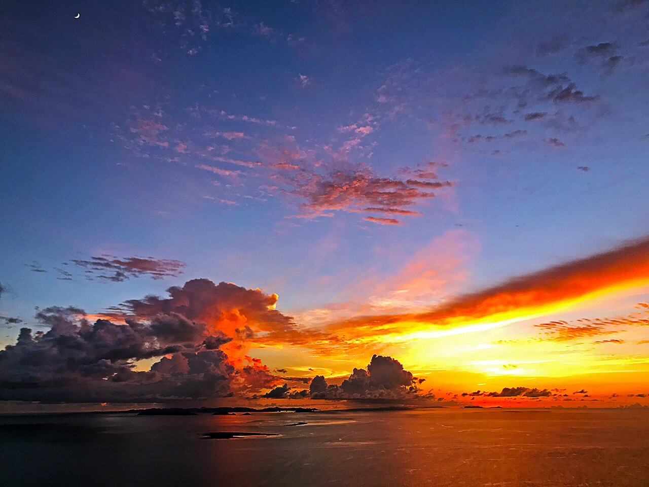 東シナ海の夕焼け