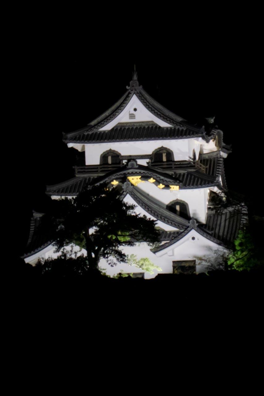 彦根城天守閣ライトアップ