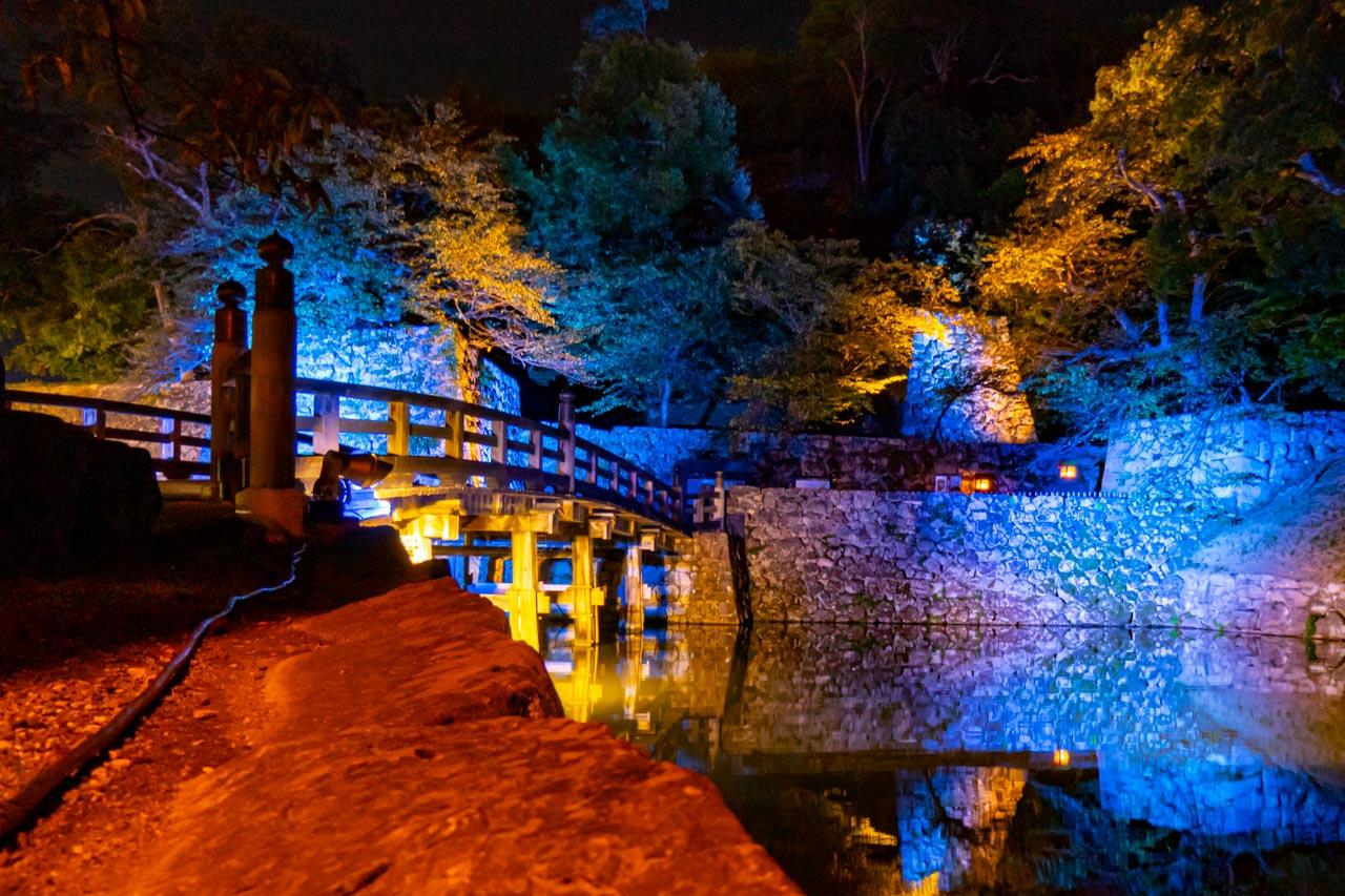 彦根城 表門橋 ライトアップ
