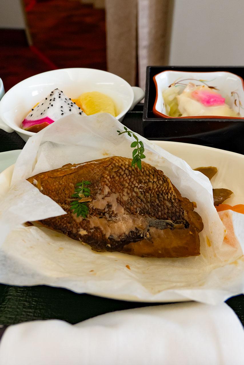 JAL 羽田ー千歳便 ファーストクラス 朝食