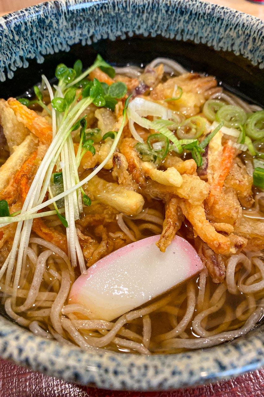 石川県金沢市 手打ち蕎麦 やぶけん かき揚げ天そば