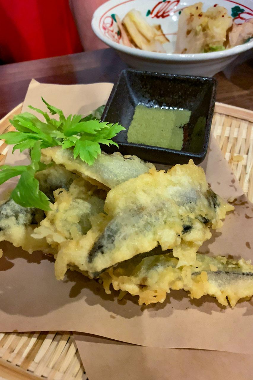 秋サンマの天ぷら