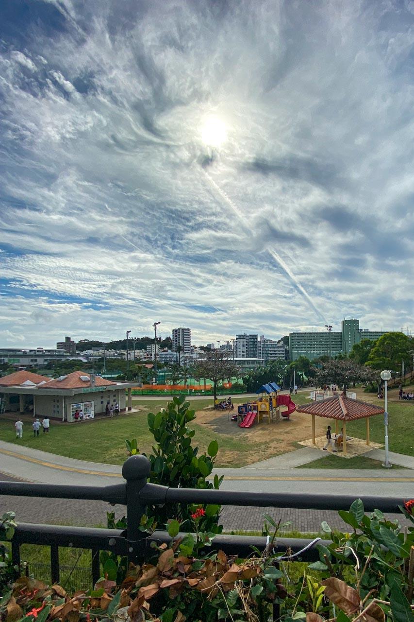 沖縄県護国神社駐車場からの眺め