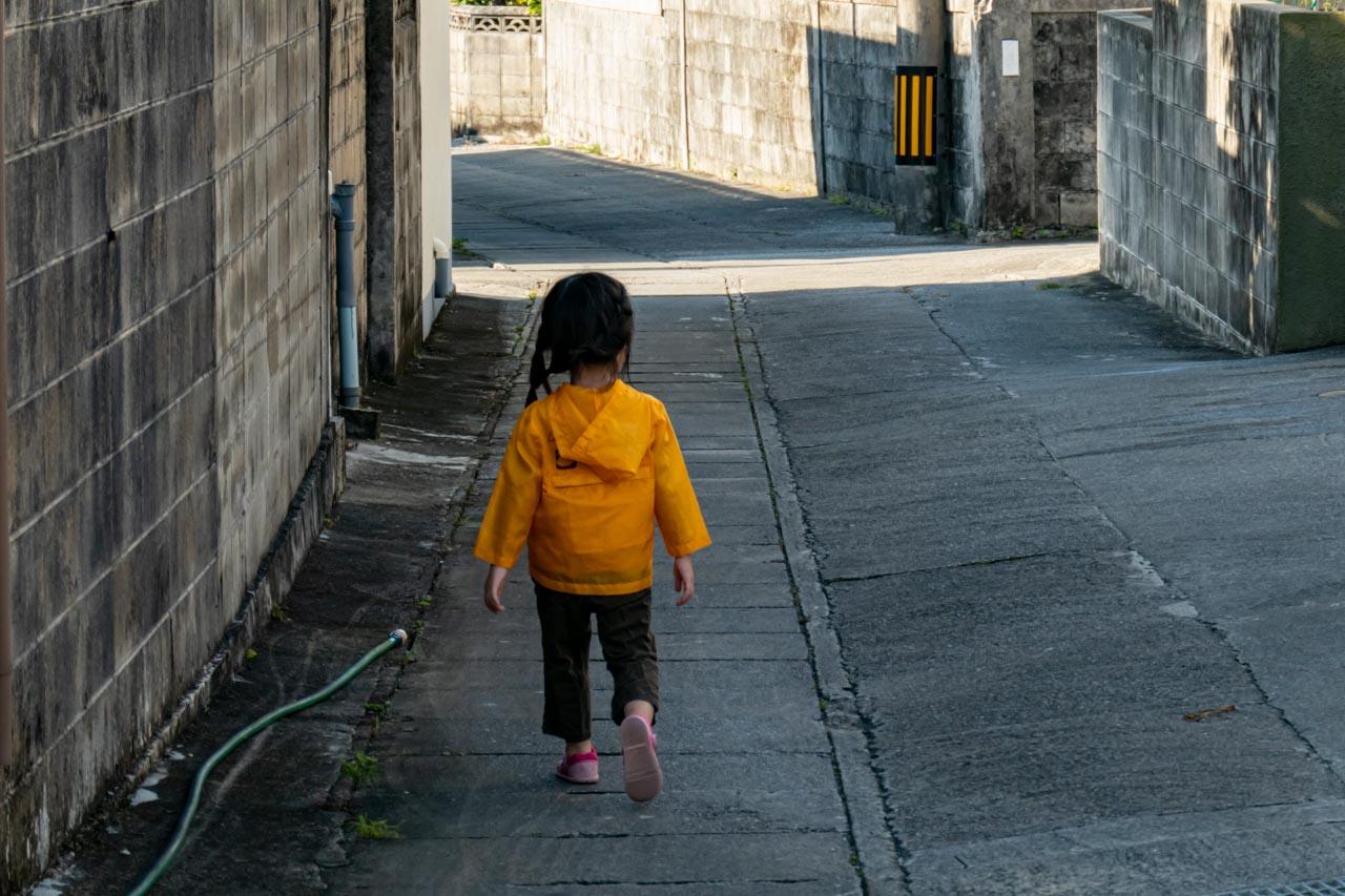 暗渠の上を歩くけいたま