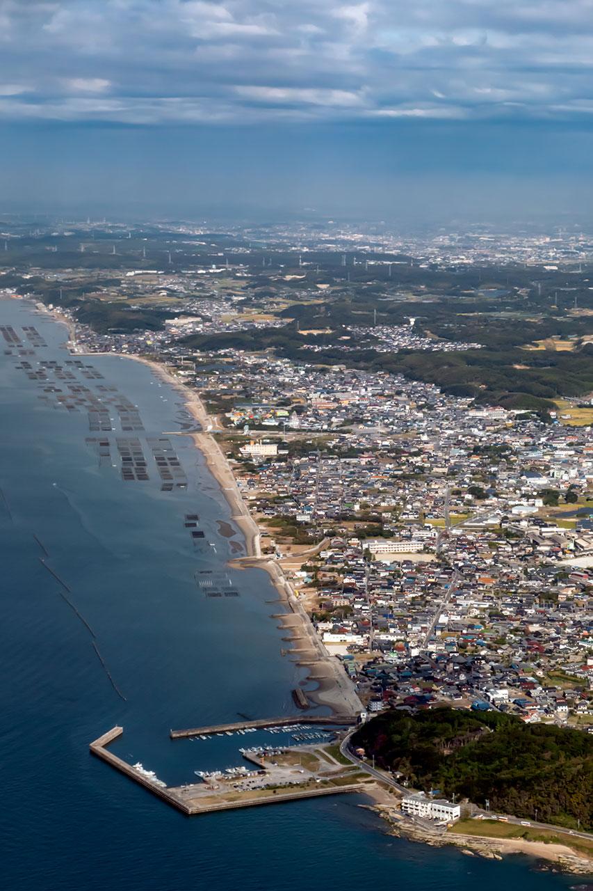 愛知県知多半島の冨具崎港や野間埼灯台付近