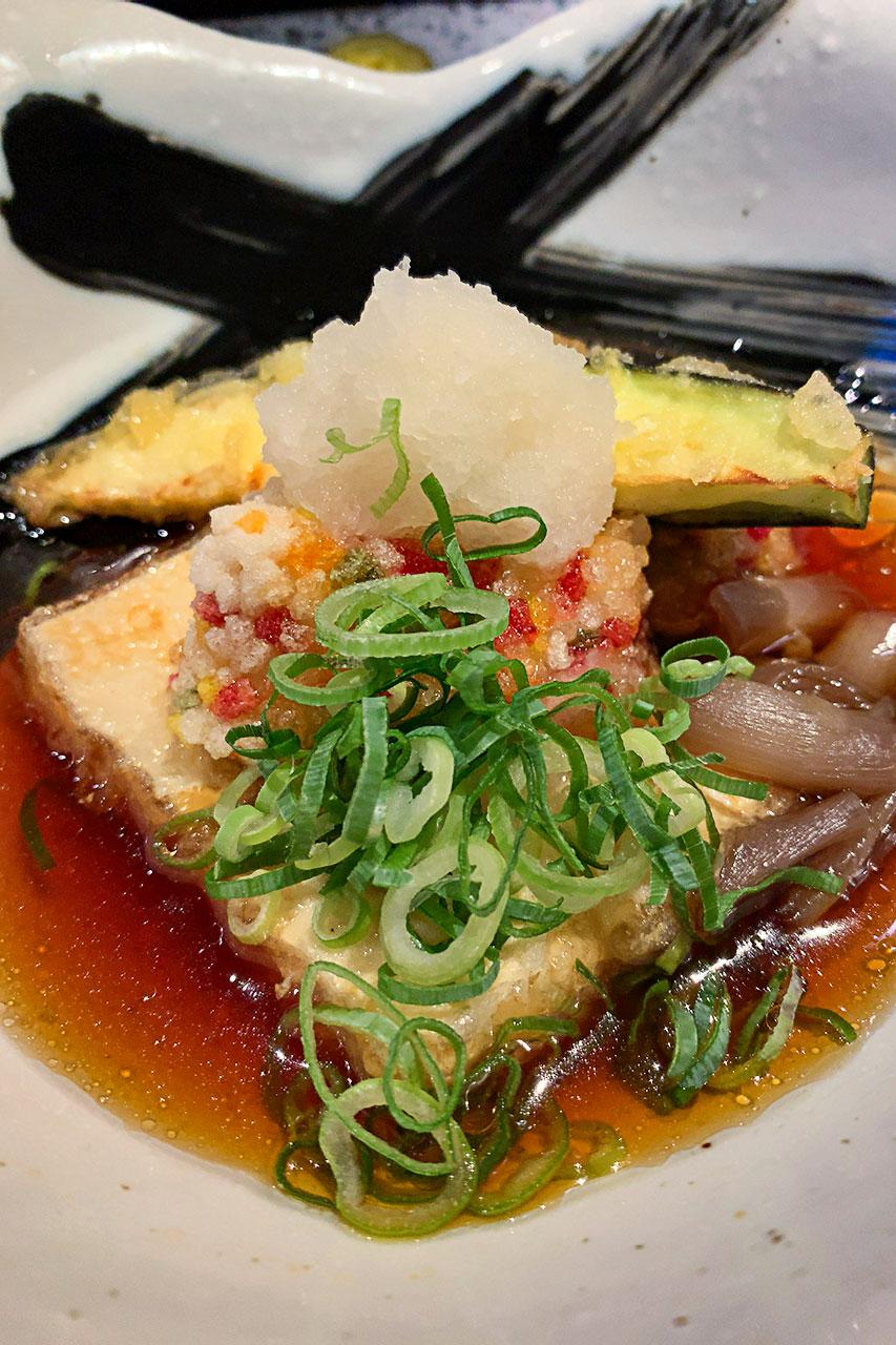 京生麩と豆腐の揚げ出し