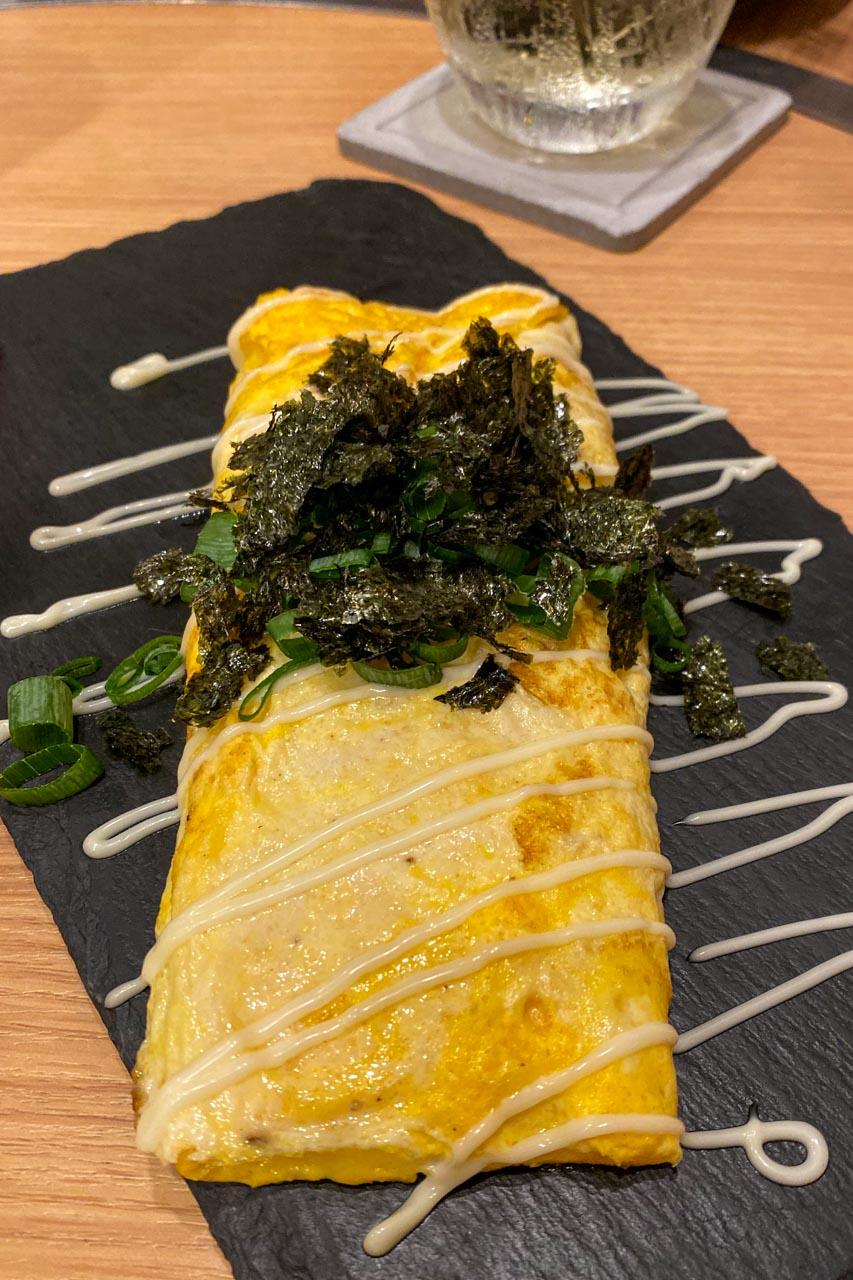 明太チーズ玉子の鉄板焼き