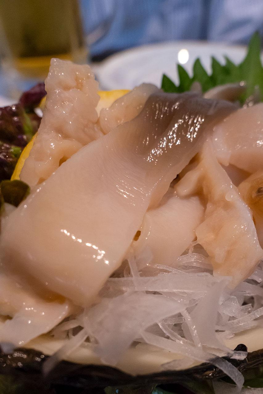 ホッキ貝刺身