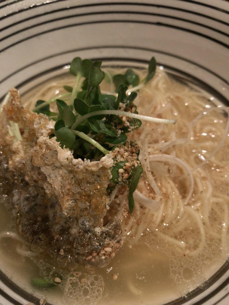 徳島市 堂の浦 鯛の塩ラーメンと超替飯(生卵)