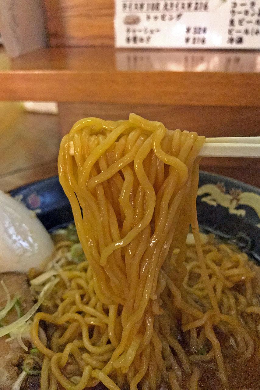 味噌ラーメン 麺