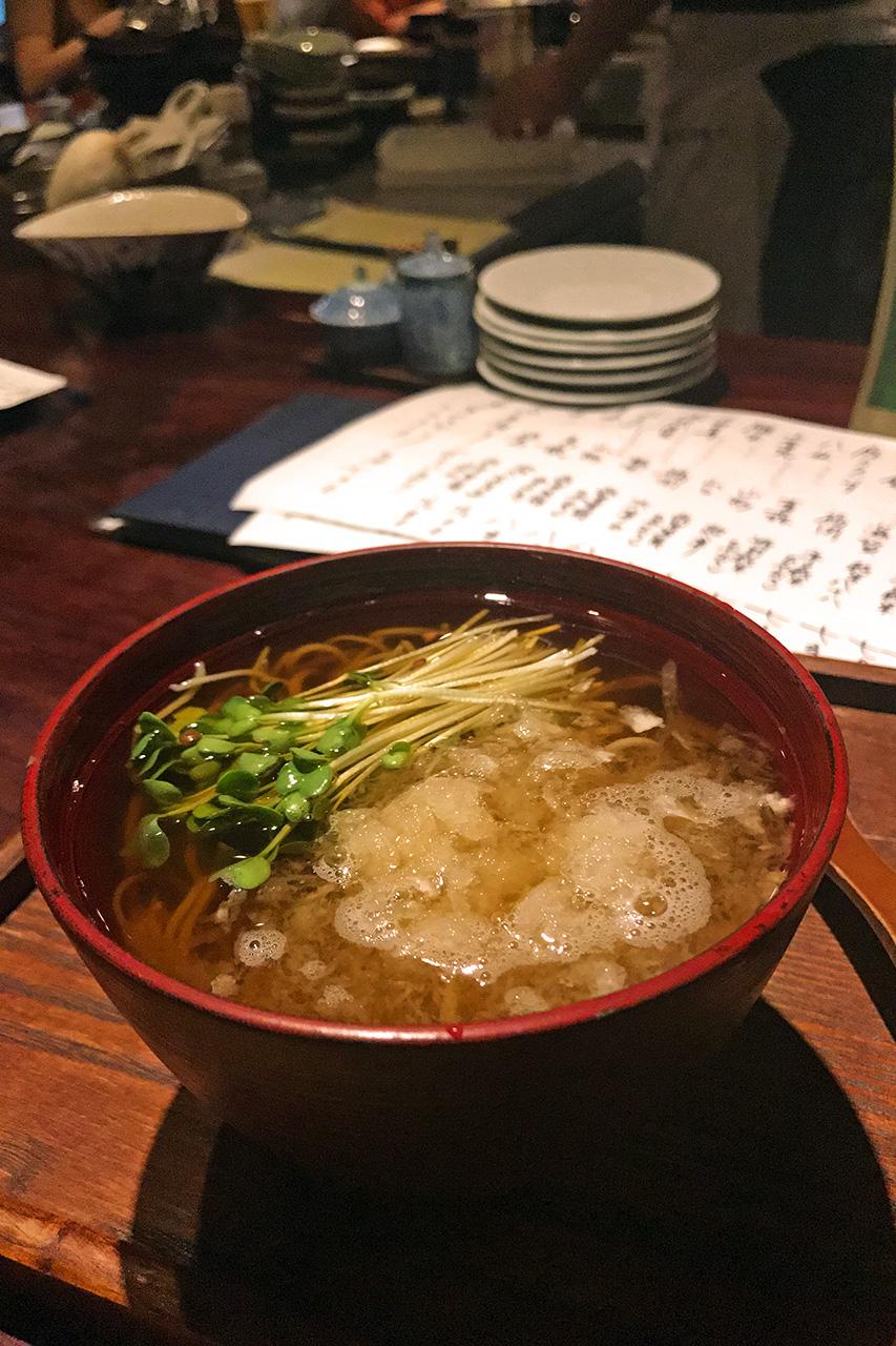 札幌 狸小路 そば居酒屋 ごん ~蕎麦と天ぷら~