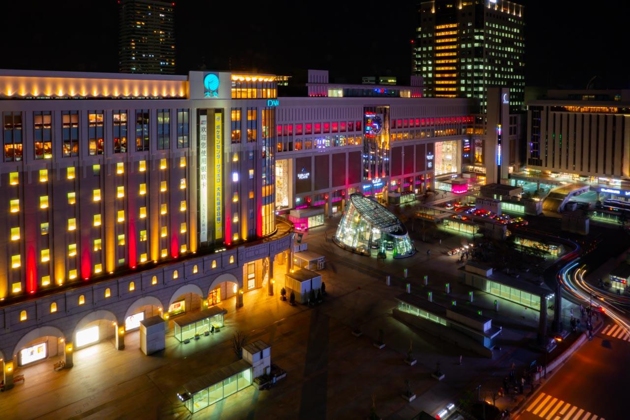 札幌駅の夜景