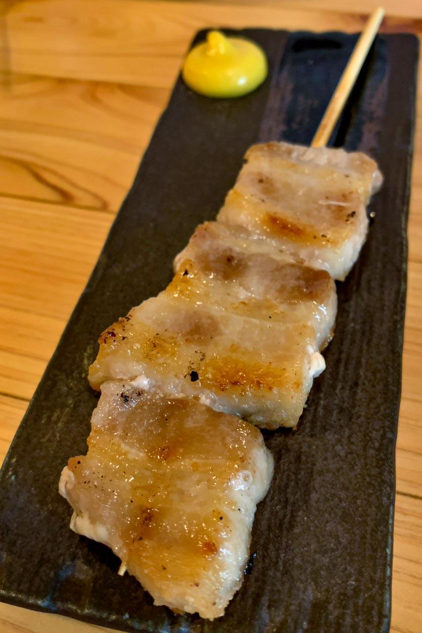 豚バラ塩焼き 芥子付き