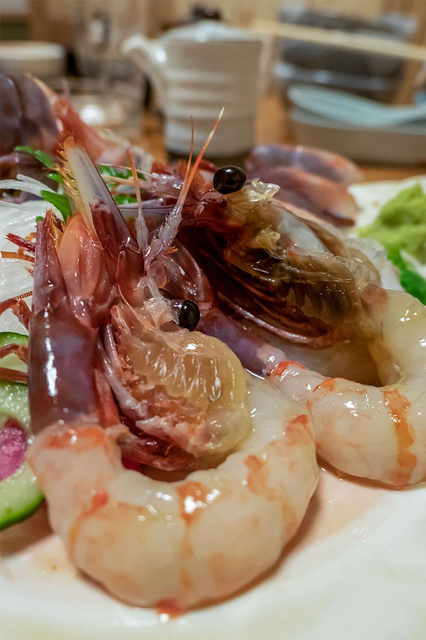 札幌市 郷土料理 おが ぶどうえびときんきのしゃぶしゃぶ