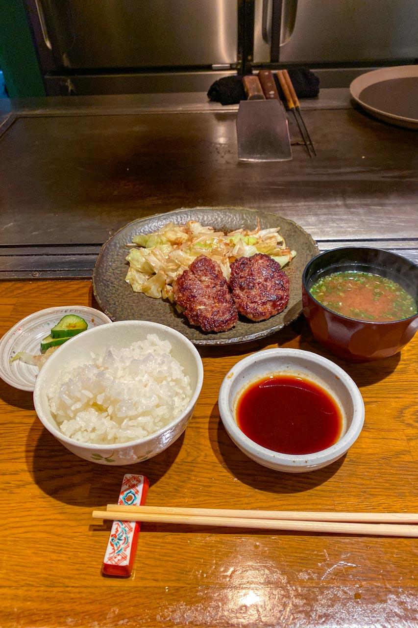 香川県高松市 瓦町駅 ステーキ石田 ランチハンバーグ