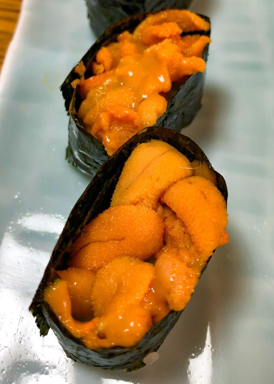 北海道滝川市 鮨おくの 握り鮨