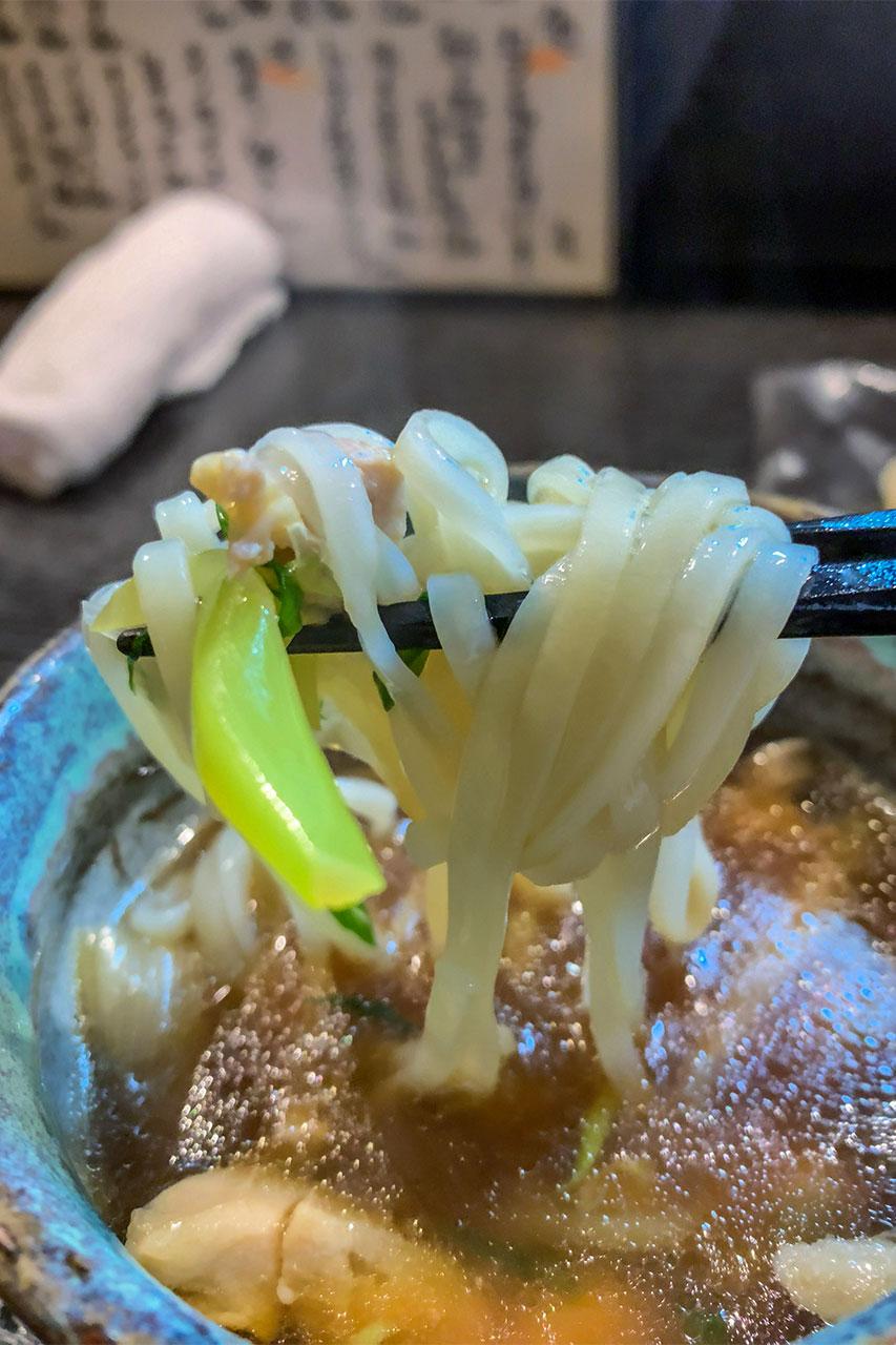 埼玉県草加市 谷塚駅 まるや 鶏南蛮うどん